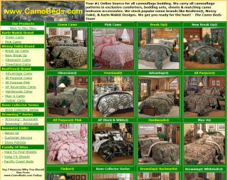 camo beds website